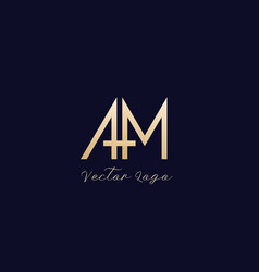 Am letters logo design vector