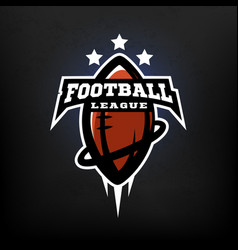american football league logo vector image