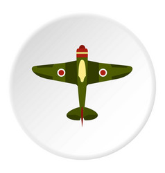 army plane icon circle vector image