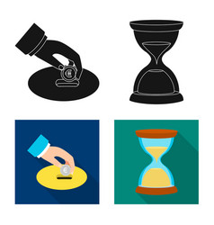 Bank and money logo set vector