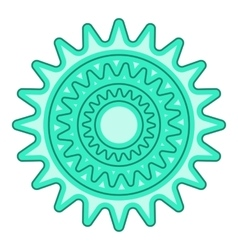 Bicycle sprocket icon cartoon style vector image