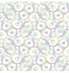 Blurry shibori tie dye naive daisy background vector