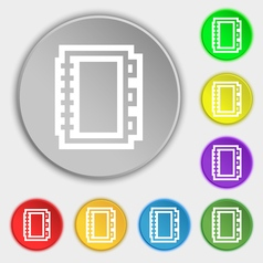 Book icon sign Symbol on eight flat buttons vector image