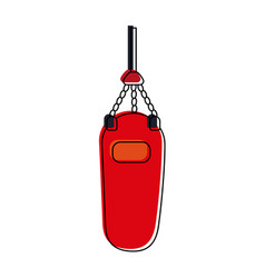 boxing bag fitness or sport related icon image vector image