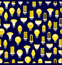 Bright light bulbs seamless pattern vector