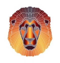 Bright lion portrait zodiac Leo sign vector image