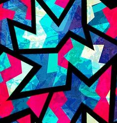 Bright zigzag geometric seamless pattern vector