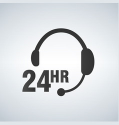 call center 24 hours a day service sign graphic vector image