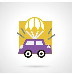 Car insurance concept flat icon vector image vector image