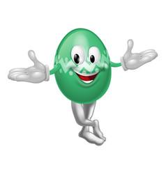 cartoon easter egg man vector image