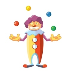 cartoon of cute clown on white vector image
