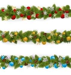 Christmas Borders Set 4 vector