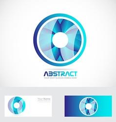 Circle flower abstract logo vector image