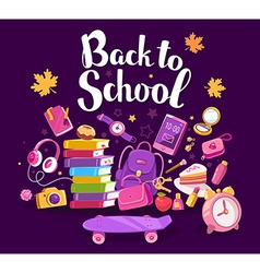 colorful of big collection of many school su vector image