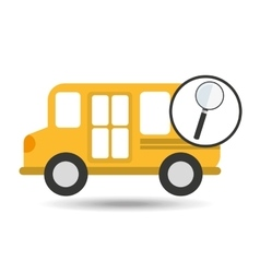 Concept bus school search desing vector