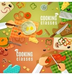Cooking Classes Top View vector