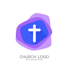 Cross of jesus christ on a colored background vector