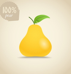 Cute fresh pear vector image