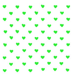 cute green hearts abstract background geometric vector image