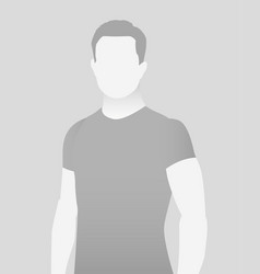 default placeholder fitness trainer in a t-shirt vector image