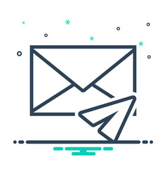 direct message vector image
