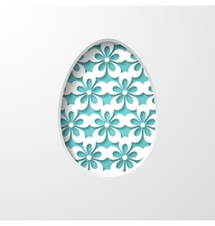 easter egg cut in the paper vector image