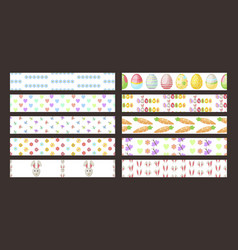 easter seamless ribbons design pattern vector image