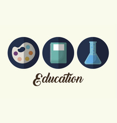 Education related icons vector