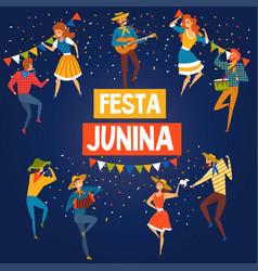 Festa junina brazil june festival banner or poster vector