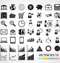 financial icon vector image