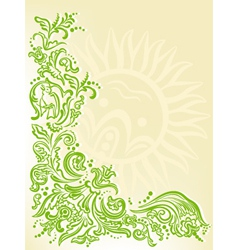 garden card vector image