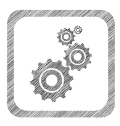 Hatched square settings icon vector