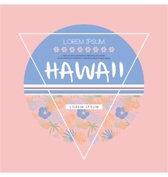 Hawaii Logo with Lettering vector