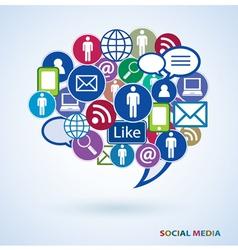Icons social media vector