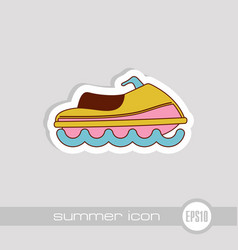 jet ski icon summer vacation vector image