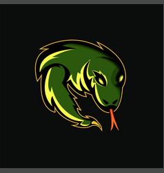 komodo mascot for e-sport game logo symbol vector image
