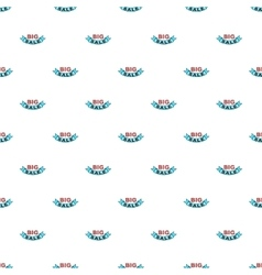 Label ribbon big sale pattern cartoon style vector