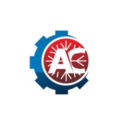 Letter ac gear vector