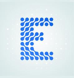 Letter e logo halftone icon vector