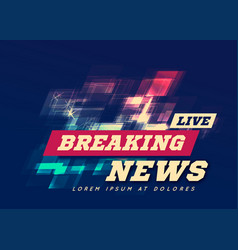 live breaking news can be used as design vector image