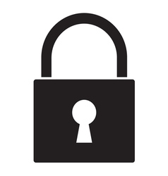 Lock icon1 vector image