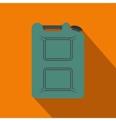 Metal canister flat icon with shadow vector image