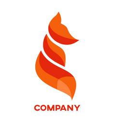 Modern fox logo vector