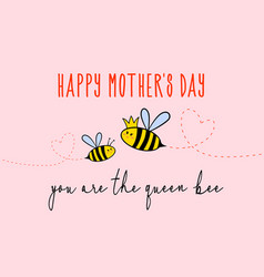 mothers day card with cute bee vector image