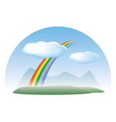 Nature concept sky rainbow clouds vector