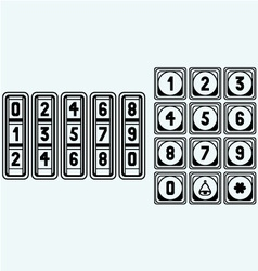 Numerical code lock vector image
