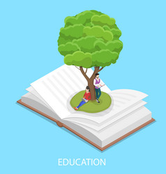 online education isometric flat conceptual vector image
