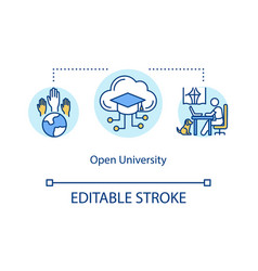 Open university concept icon vector