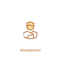 Orthodontist concept 2 colored icon simple line vector