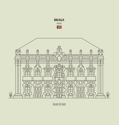 palace raio in braga portugal vector image